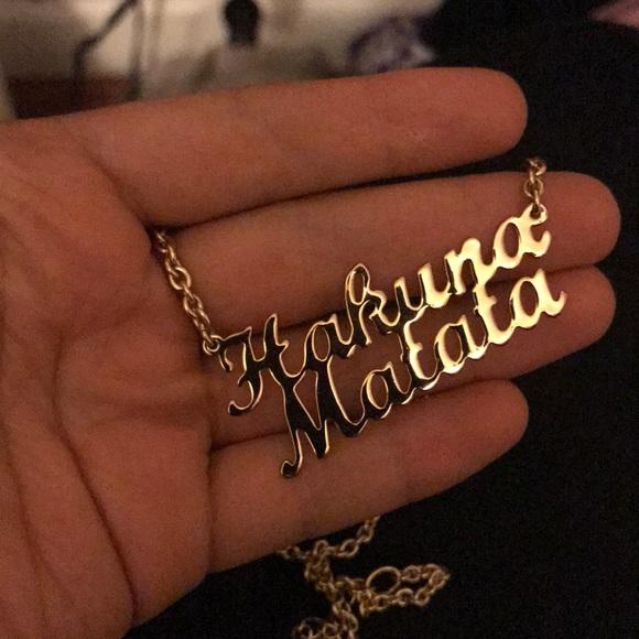 Disney Jewelry Couture Lion King Hakuna Matata Necklace Poshmark